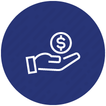 Money in hand icon