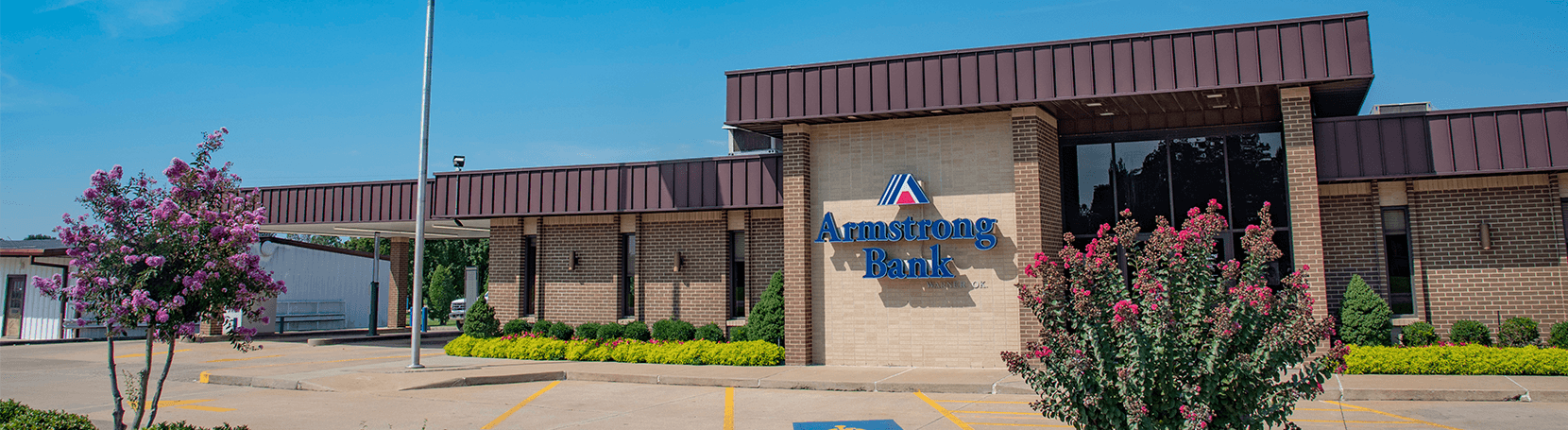 Armstrong Bank building in Warner, Oklahoma